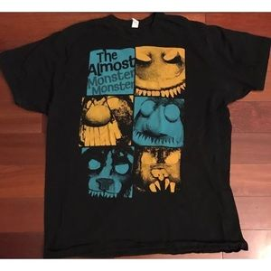 Almost Monster tee shirt XL black music band